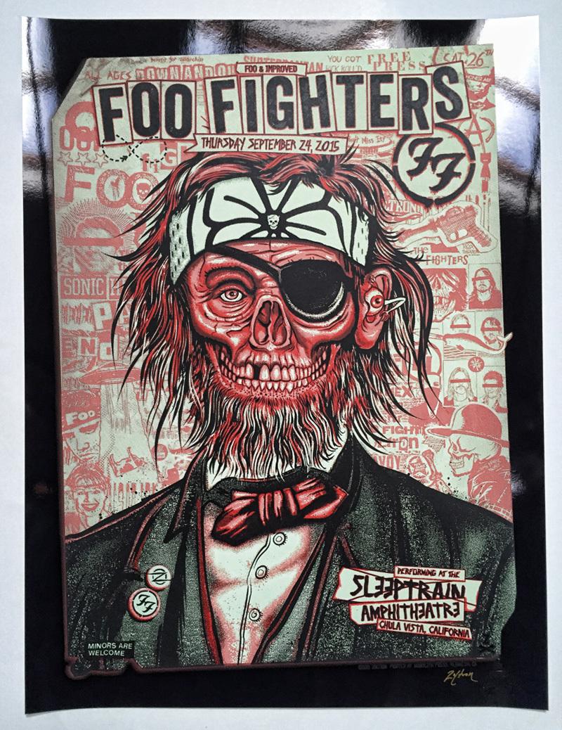 Zoltron Foo Fighters Silkscreen Poster