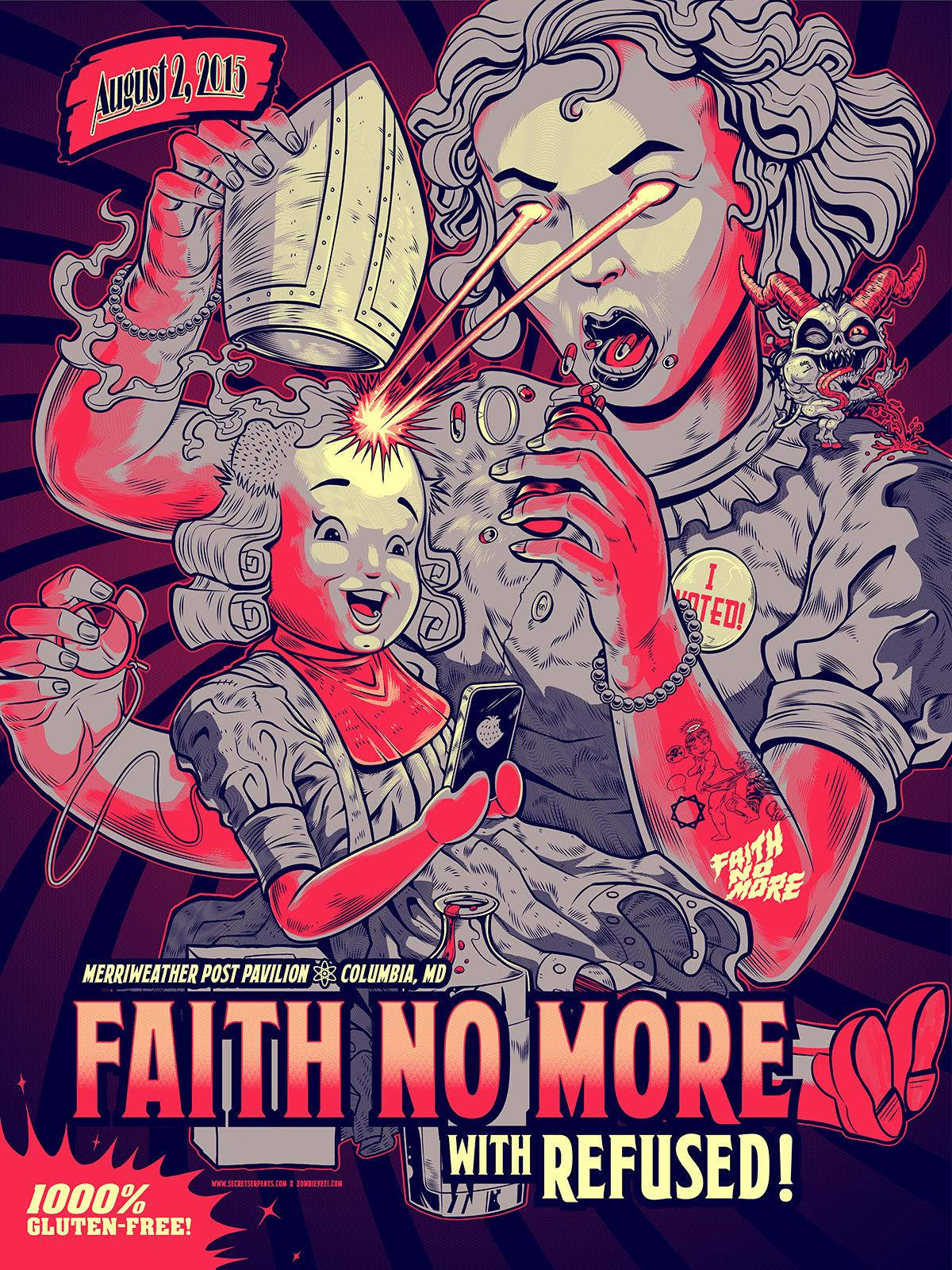 Faith No More Gig Poster ZombieYeti