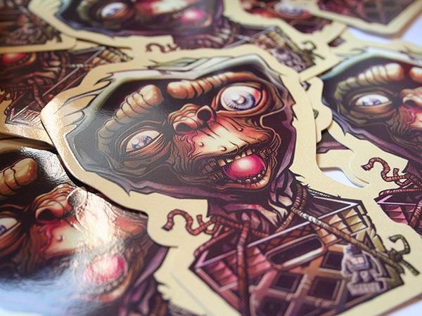 ET Silkscreen Custom Shape Sticker