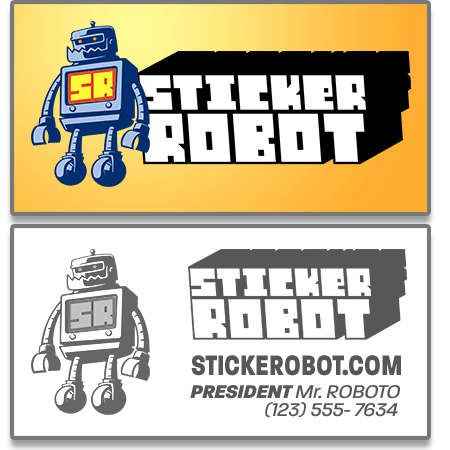 Business Card Sticker Templates
