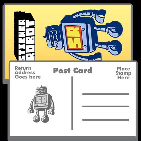 Postcard Sticker Templates