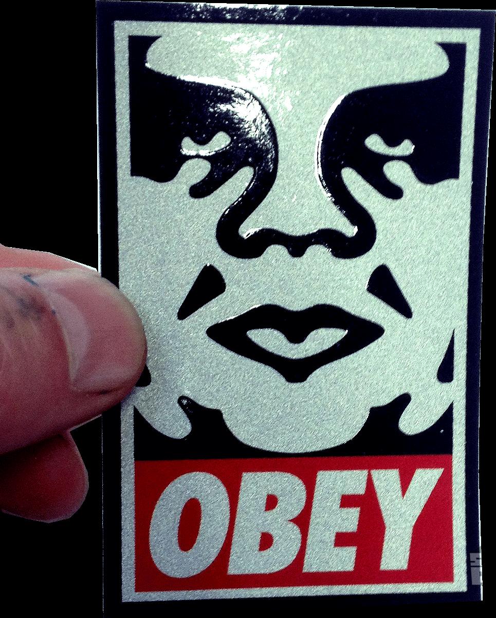 Obey Silk Screen Sticker