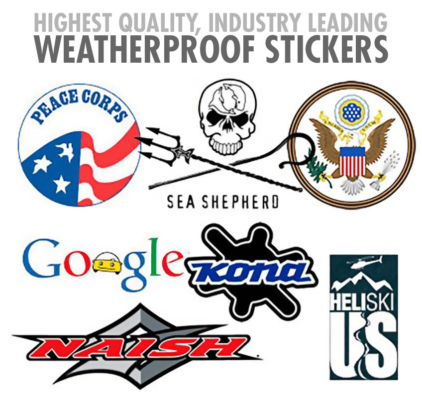Outdoor Weatherproof Stickers