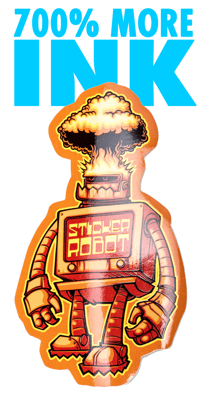 Super Thick Ink Sticker Printing