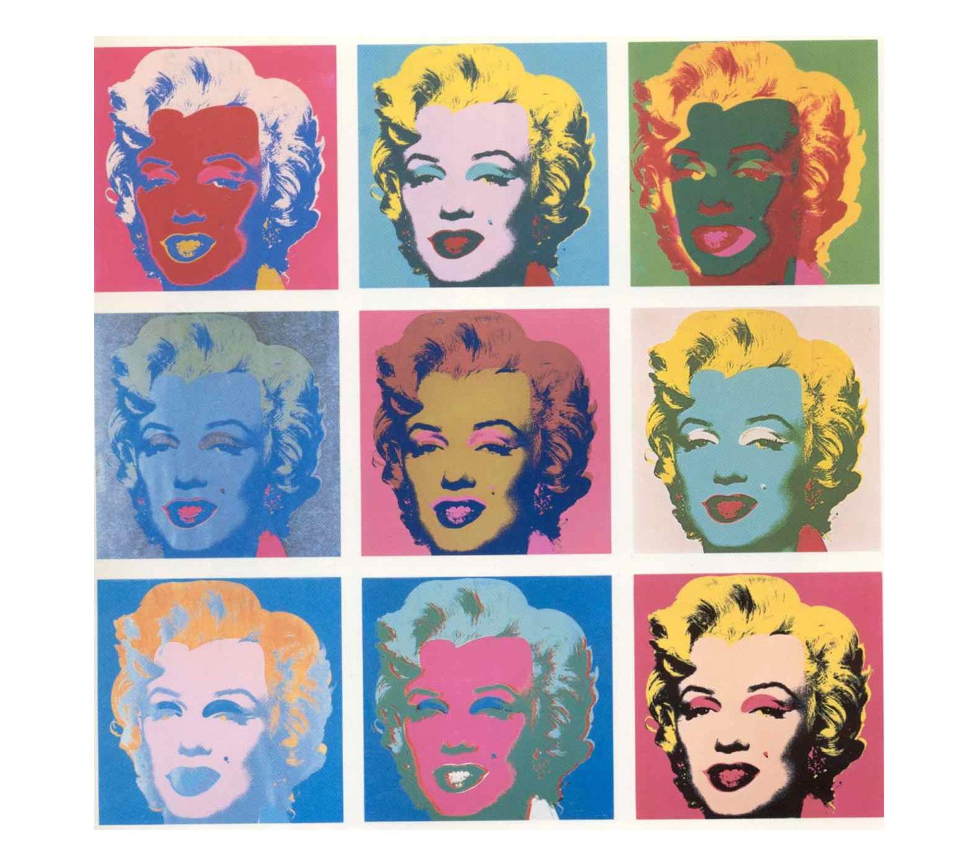 Warhol Marilyn Monroe Silkscreen Stickers