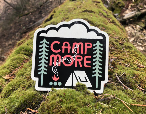 Camp More Outdoor Stickers