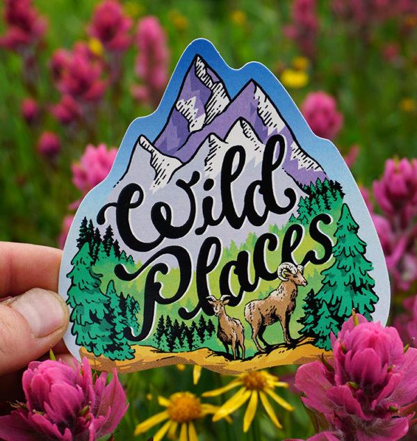 Wild Places Silkscreen Sticker