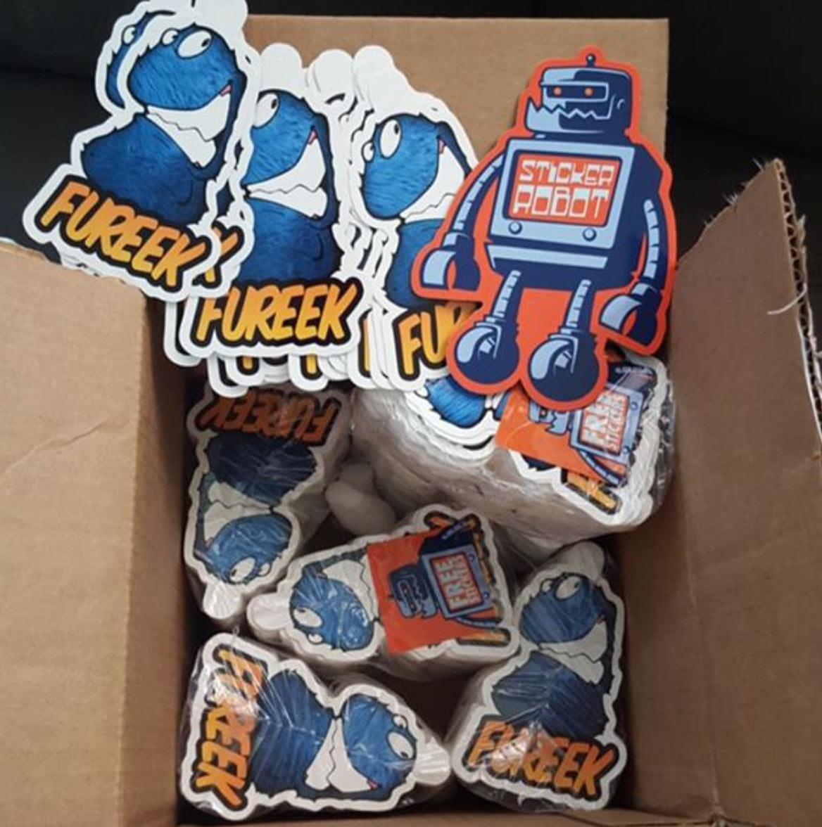 sticker robot promo sticker run
