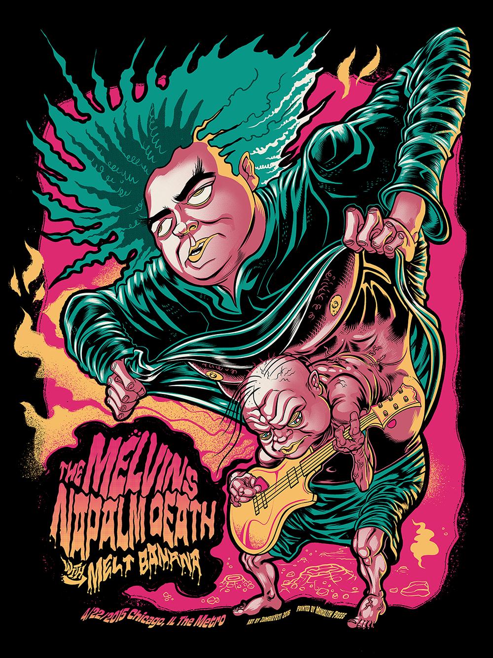 Melvins Gig Poster