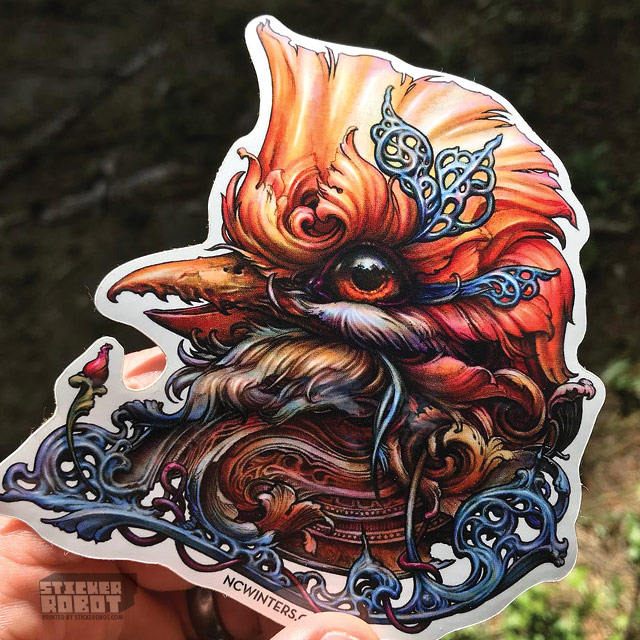 custom diecut bird stickers