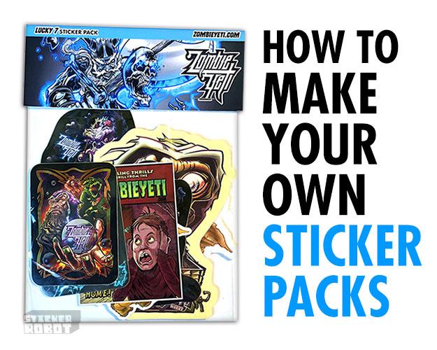 custom home-made sticker packs