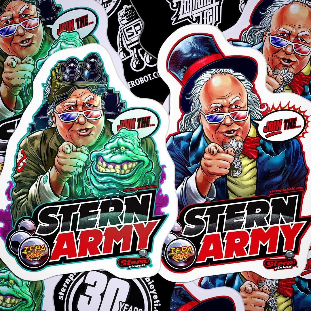 Stern Sticker Pack Pinball