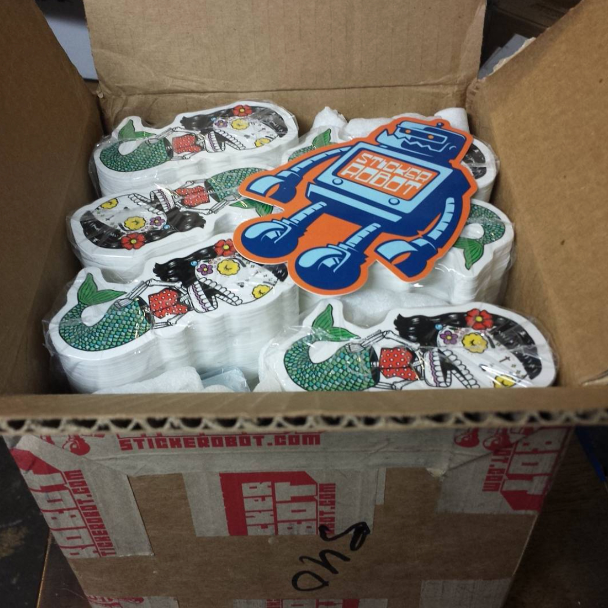 sticker unboxing