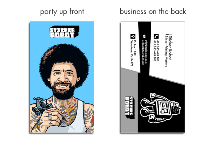 custom business card stickers
