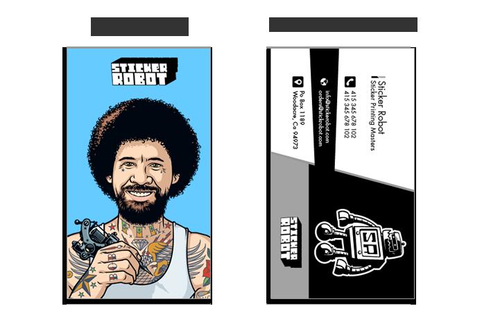 custom business card stickers