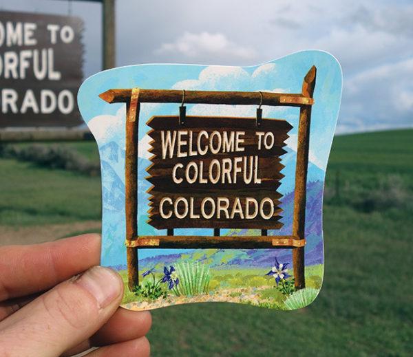 Colorful Colorado Outdoor Sticker