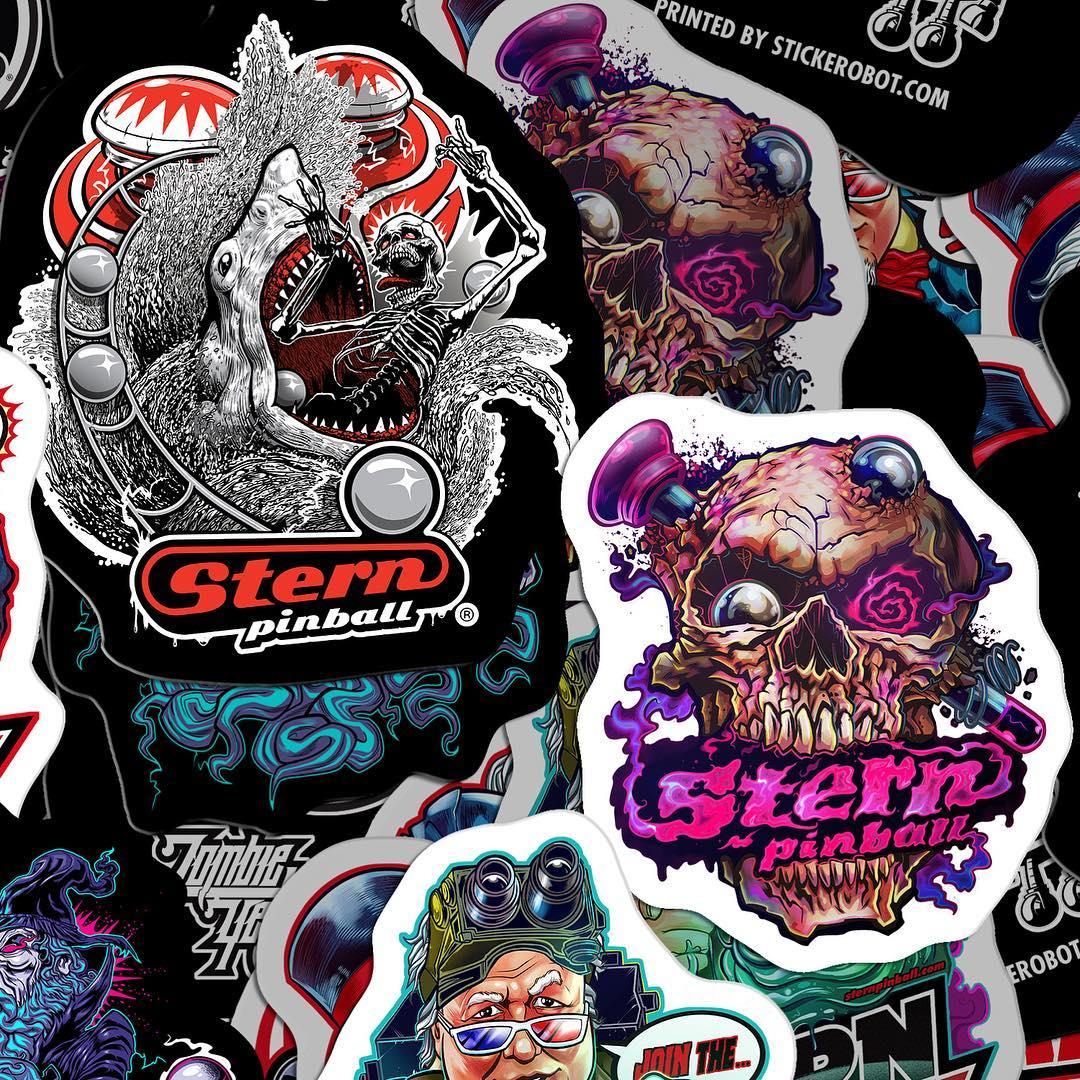 Zombie Yeti Stern Pinball Sticker Pack