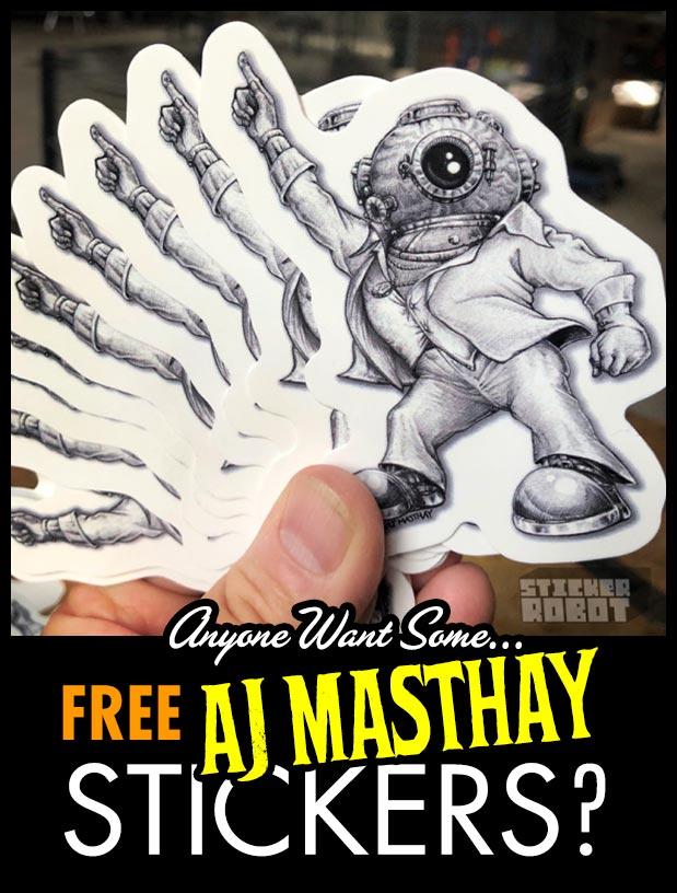 free sticker giveaway sticker robot