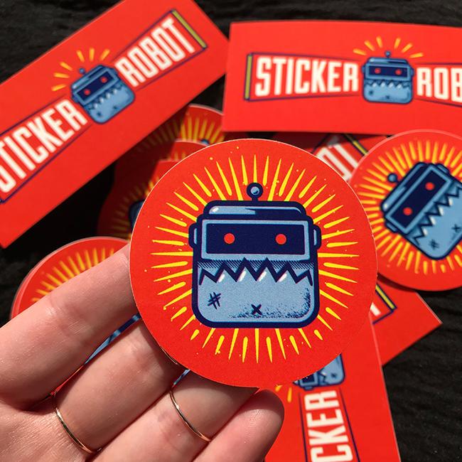 Free Round Vinyl Stickers