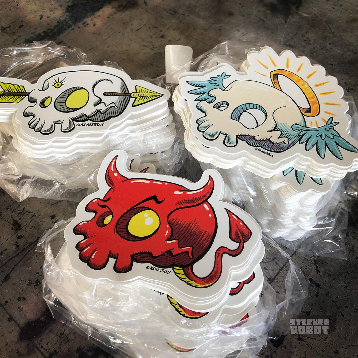 AJ Masthay Skull Sticker Stacks