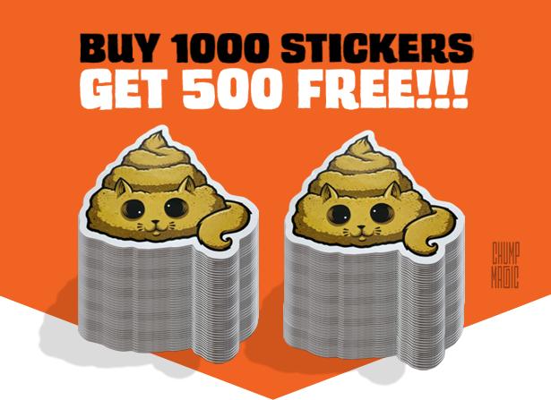 500 Free Sticker Offer