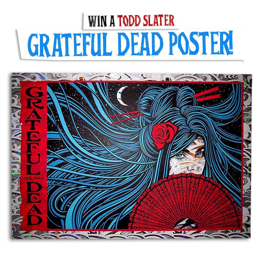grateful dead sticker poster silkscreen