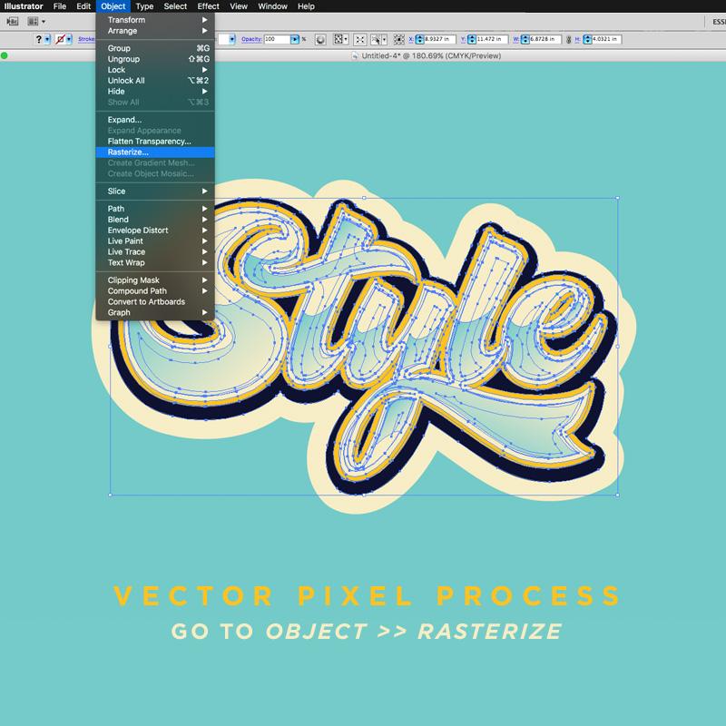 Diecut Cursive Sticker Design