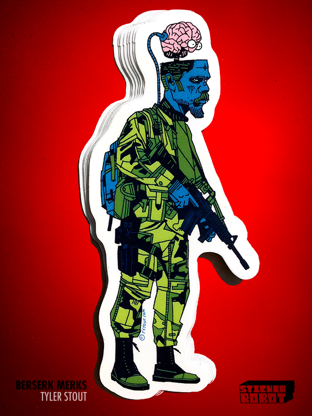 Brainwave - Tyler Stout Die Cut Sticker