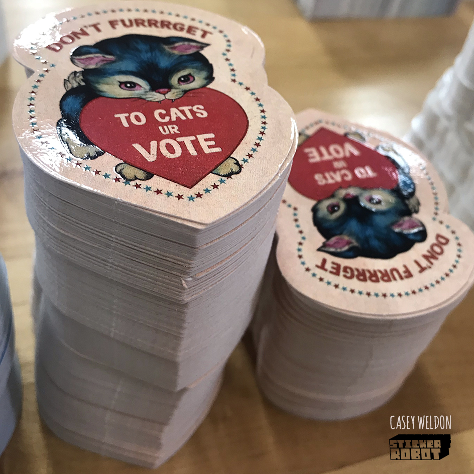 cat vote stickers 2020