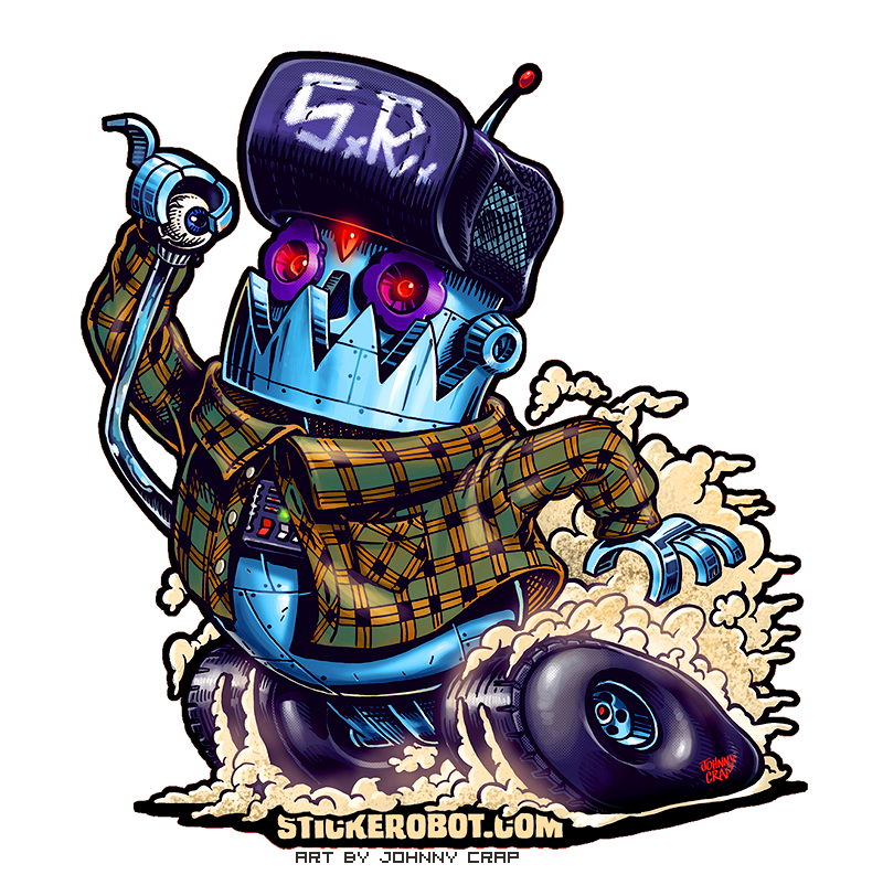 Sticker Reorder Art by Johnny Crap
