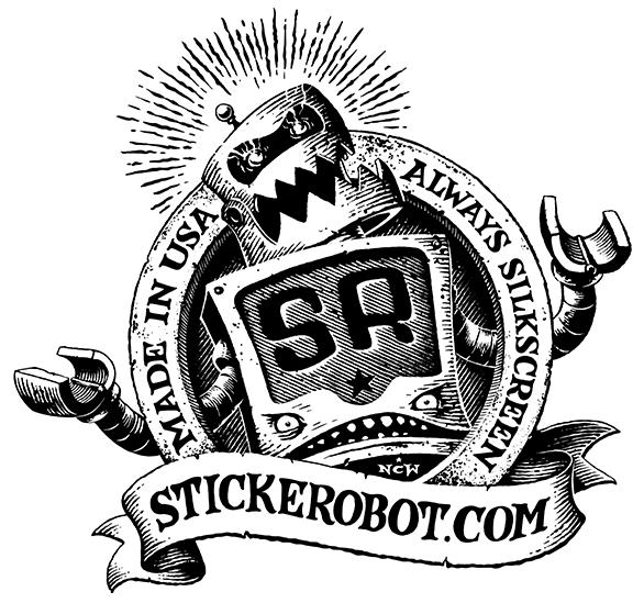 Sticker Robot Backprint